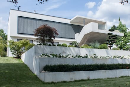 Gartenansicht: moderne Häuser von herzog,kassel+partner