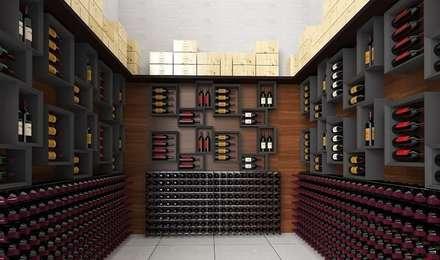 Arredamento cantina con portabottiglie Esigo 2 Net ed Esigo 5: Cantina in stile in stile Moderno di Esigo SRL