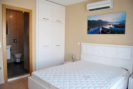 Estateinwest – Azure Villaları 3 Odalı İkiz Dubleksler: modern tarz Yatak Odası