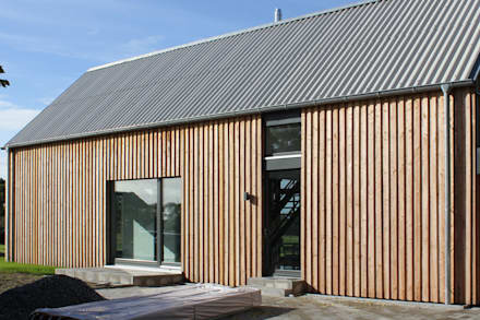 Haus B: moderne Häuser von JEBENS SCHOOF ARCHITEKTEN