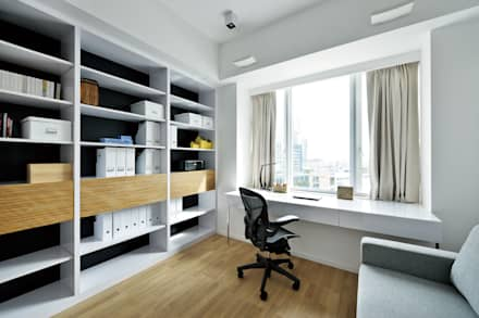 Harbour Green:  Study/office by Millimeter Interior Design Limited