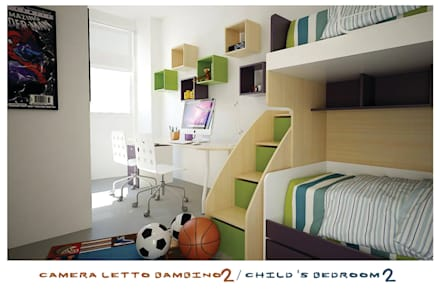 child's bedroom: Stanza dei bambini in stile in stile Minimalista di ZENZEROdesign