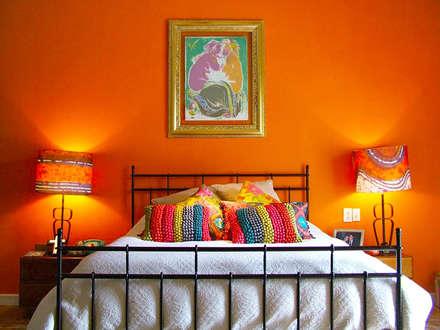 Contadero Decor, Mexico City 2011.: Recámaras de estilo ecléctico por Erika Winters® Design