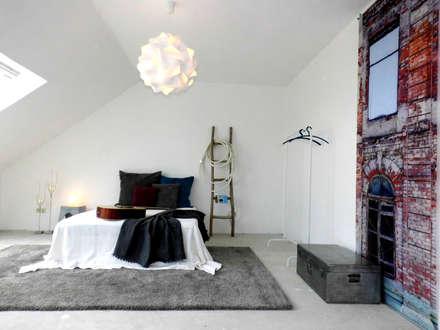 industriale schlafzimmer einrichtungsideen und bilder homify. Black Bedroom Furniture Sets. Home Design Ideas