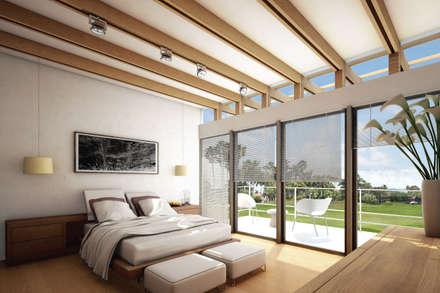 ห้องนอน by gOO Arquitectos