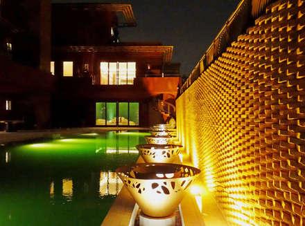 modern Pool by arqflores / architect