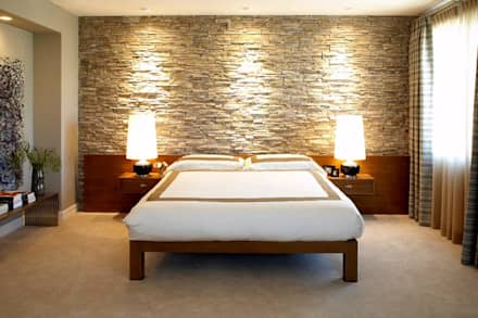 Interiors can also be beautified by simple stone techniques: asian Bedroom by DT