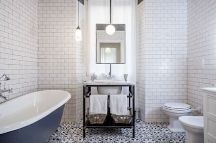 industrial Bathroom by NOMADE ARCHITETTURA E INTERIOR DESIGN