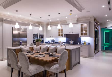 Flairlight Project 1 Oxshott, Tudor House: modern Kitchen by Flairlight Designs Ltd