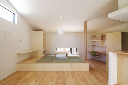 稜線の家: ウタグチシホ建築アトリエ/Utaguchi Architectural Atelierが手掛けたリビングです。