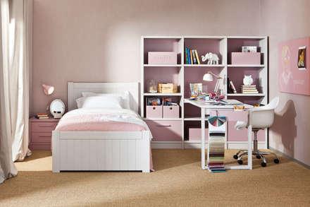 Dormitorio infantil de niña: Habitaciones de niñas de estilo  de Sofás Camas Cruces
