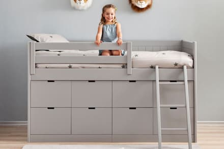 Dormitorio infantil con cama block: Dormitorios infantiles de estilo moderno de Sofás Camas Cruces