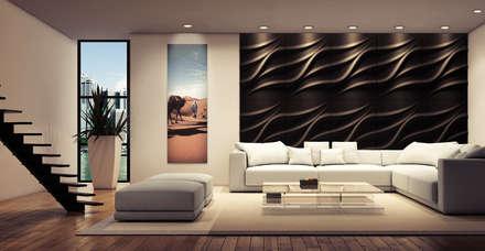 Wohnzimmer einrichtung design inspiration und bilder homify - 3d wandpaneele schlafzimmer ...