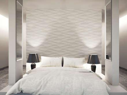 dekorative Wandverkleidung aus gips: moderne Schlafzimmer von Loft Design System Deutschland
