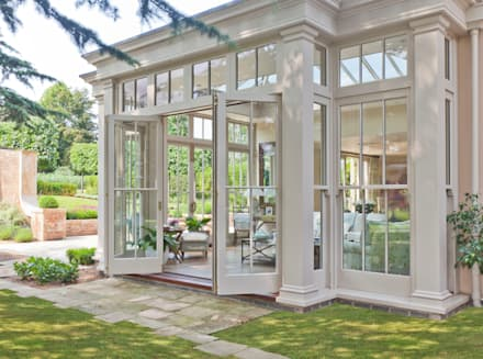 Orangery with Bi-fold Doors: classic Conservatory by Vale Garden Houses