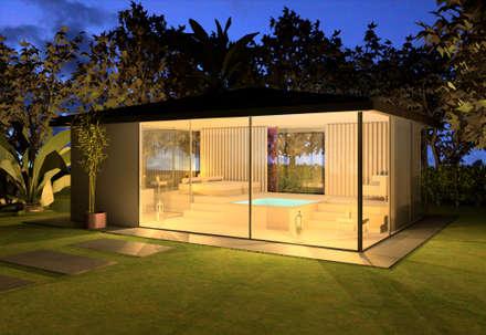 Spa Extérieur, Saint-Tropez (83), 2014 - Réhabilitation - 40 m²: Spa de style de style Moderne par ERIC SANTOS • ARCHITECTURE