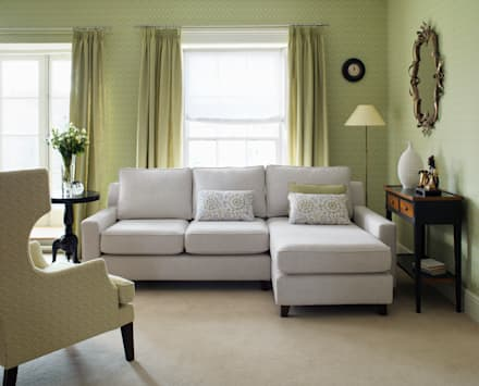 Sofas and armchairs: modern Living room by Wesley-Barrell