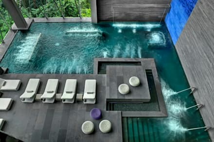 Spa de estilo moderno por Serrano Monjaraz Arquitectos