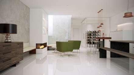Vista fondo sala multiusos: Bodegas de estilo minimalista de Gramil Interiorismo II