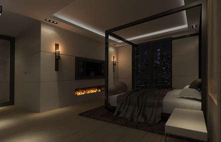 160m, Wola, Wwa: styl , w kategorii Sypialnia zaprojektowany przez dziurdziaprojekt