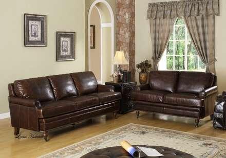 Leather Sofa from: LOCUS HABITAT: country Living room by Locus Habitat