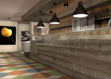 Ristorante Italiano: Centri commerciali in stile  di Masi Interior Design di Masiero Matteo