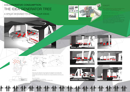 Collaborative consumption - The idea generator tree:  Office buildings by DariaTagliabue
