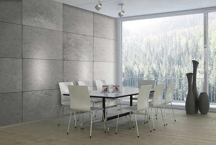 Beton-Optik Modell CONCRETE: moderne Esszimmer von Loft Design System Deutschland