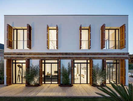 fachada casa a casas de estilo mediterrneo de architects