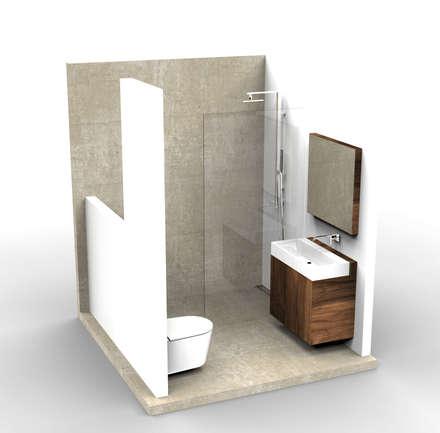 Small Bathroom Design: minimalistische Badkamer door Alexander Claessen