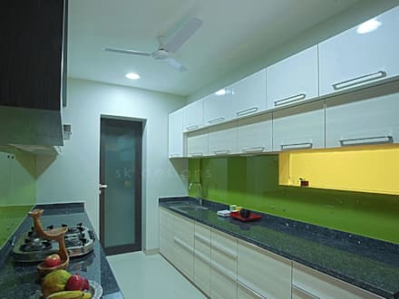 S K Designs   Contemporary Residence In Andheri: Modern Kitchen By S K  Designs