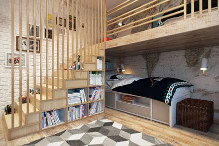 Dormitorios infantiles de estilo  por Дарья Баранович Дизайн Интерьера