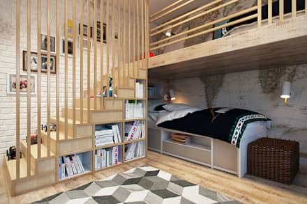 industrial Nursery/kid's room by Дарья Баранович Дизайн Интерьера