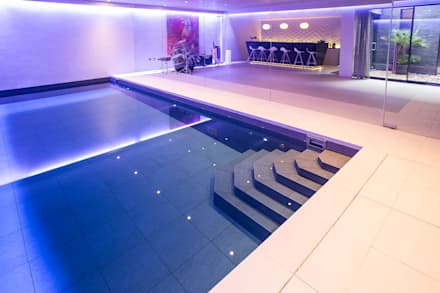 Gold Award Winning Subterranean Pool : minimalistic Pool by London Swimming Pool Company
