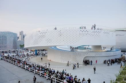 EXPO 2010 DANISH PAVILION:  Exhibition centres by BIG-BJARKE INGELS GROUP