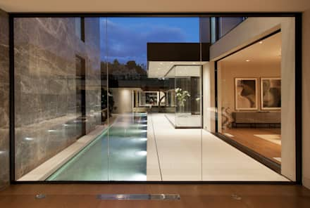 SUNSET STRIP RESIDENCE : modern Pool by McClean Design