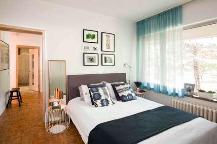 HANDE KOKSAL INTERIORS - House S - S Evi: endüstriyel tarz tarz Yatak Odası