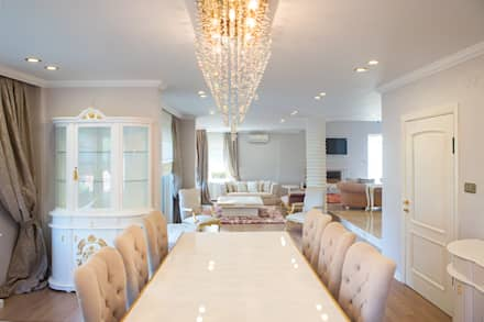 Aykuthall Architectural Interiors - NAKKASTEPE'DE BIR VILLA: modern tarz Yemek Odası