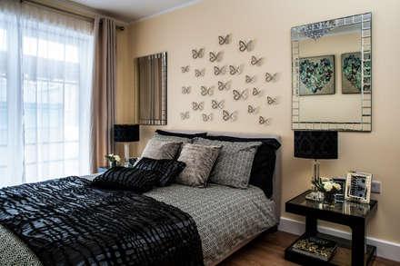 bedroom modern bedroom by lujansphotography
