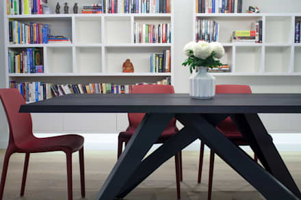 canalside flat : camden: minimalistic Dining room by Cassidy Hughes Interior Design & Styling