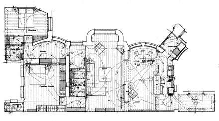 Plan général d'Avant Projet : Cuisine de style de style Minimaliste par Philippe Ponceblanc Architecte d'intérieur