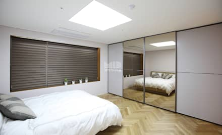 경기도 과천시 원문동 삼성래미안 슈르아파트 50평형: MID 먹줄의  침실