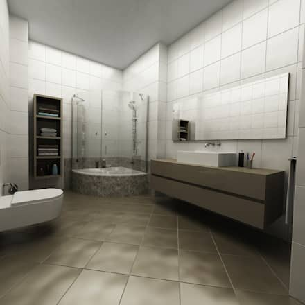 Niyazi Özçakar İç Mimarlık – SANABEL KONAKLARI: modern tarz Banyo