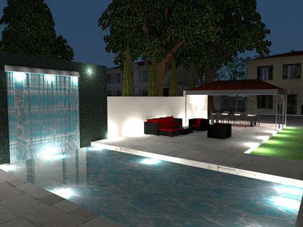 Création d'une piscine en 2 espaces distincts: Piscine de style de style Moderne par AZ Createur