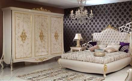 Asortie Mobilya Dekorasyon Aş.  - ESTE KLASİK YATAK ODASI: klasik tarz tarz Yatak Odası