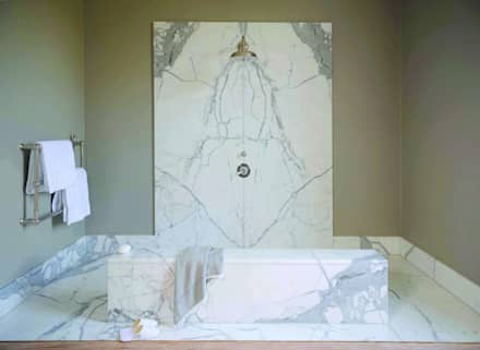 Statuary Marble Wetroom : classic Bathroom by Stone Age