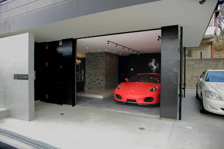 S邸ガレージハウス: 一級建築士事務所・スタジオインデックスが手掛けたガレージ/物置です。