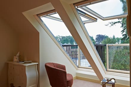 Balcony Windows:  Windows  by Architects Scotland Ltd