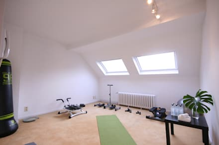 BRUSSELS HOME STAGING: ausgefallener Fitnessraum von edit home staging