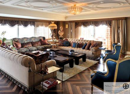 """Hakan Helvacıoğlu / H2C  – """"Classic in  a Flat"""" Maya: klasik tarz tarz Oturma Odası"""